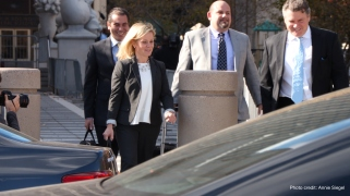 Bridget Kelly leaving court