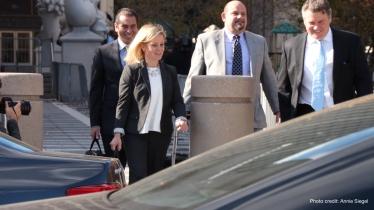 Bridget Kelly leaving court